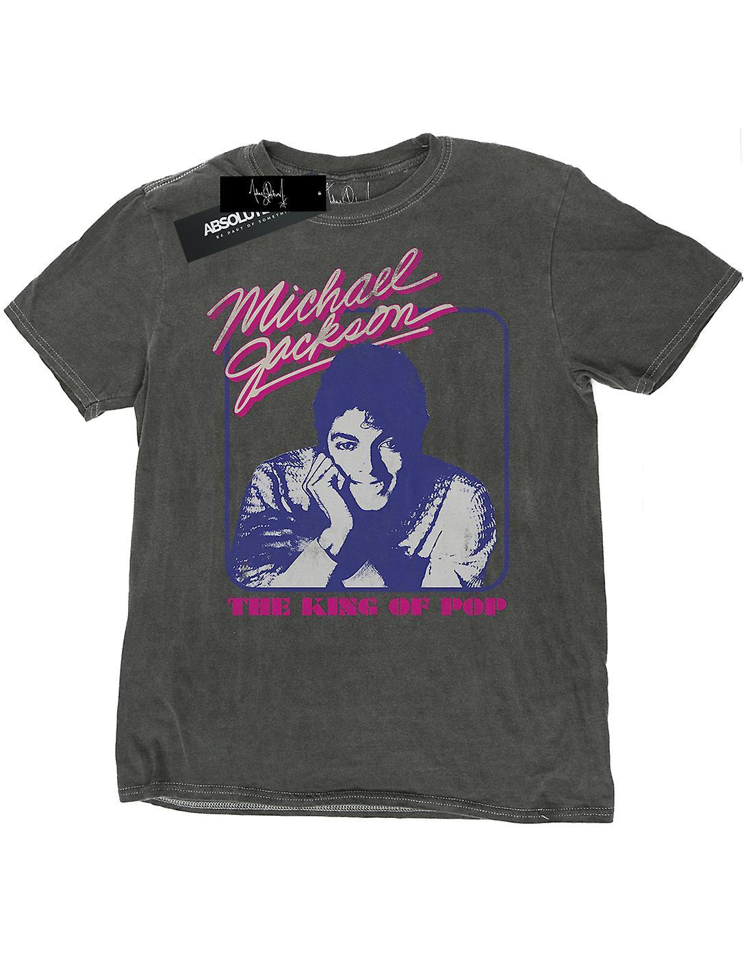 Michael Jackson Men's King Of Pop Portrait Washed T-Shirt