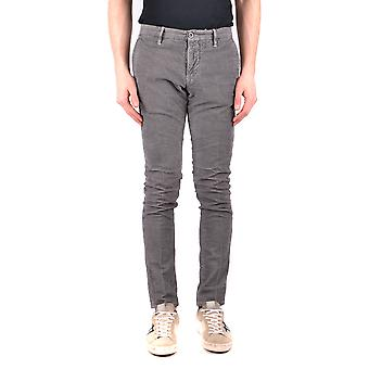 Incotex Ezbc093027 Men's Grey Cotton Pants