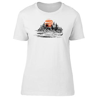 Red Sunset Tee Men's -Image by Shutterstock