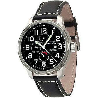 Zeno-watch mens orologio OS pilota potere riserva dual time, 8055-a1