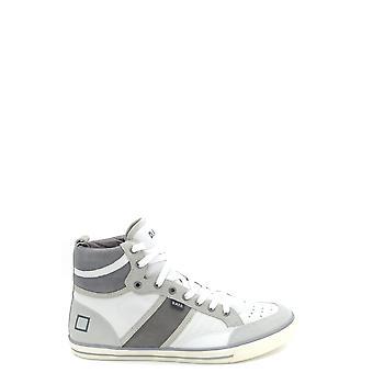 D.a.t.e. Ezbc177012 Men's Grey Leather Hi Top Sneakers