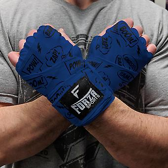 """Forza Sports 180"""" Mexican Style Handwraps - Comic Book Columbia Blue"""