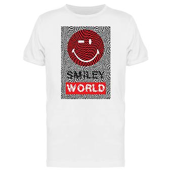 SmileyWorld Red Face Wink Face Graphic Men's T-shirt