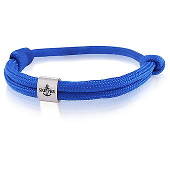Skipper Armband Charm Surfer Band Knot Maritieme Armband Roestvrij Staal Donkerblauw 7990