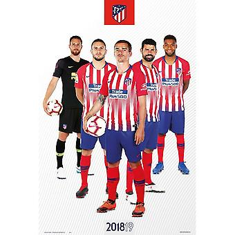 Atletico Madrid FC Official Players Poster