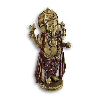 Golden Ganesha in piedi la statua del Dio indù