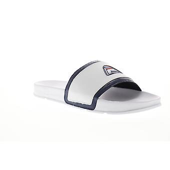 Fila drifter 96 menns hvit slip på slides sandaler sko