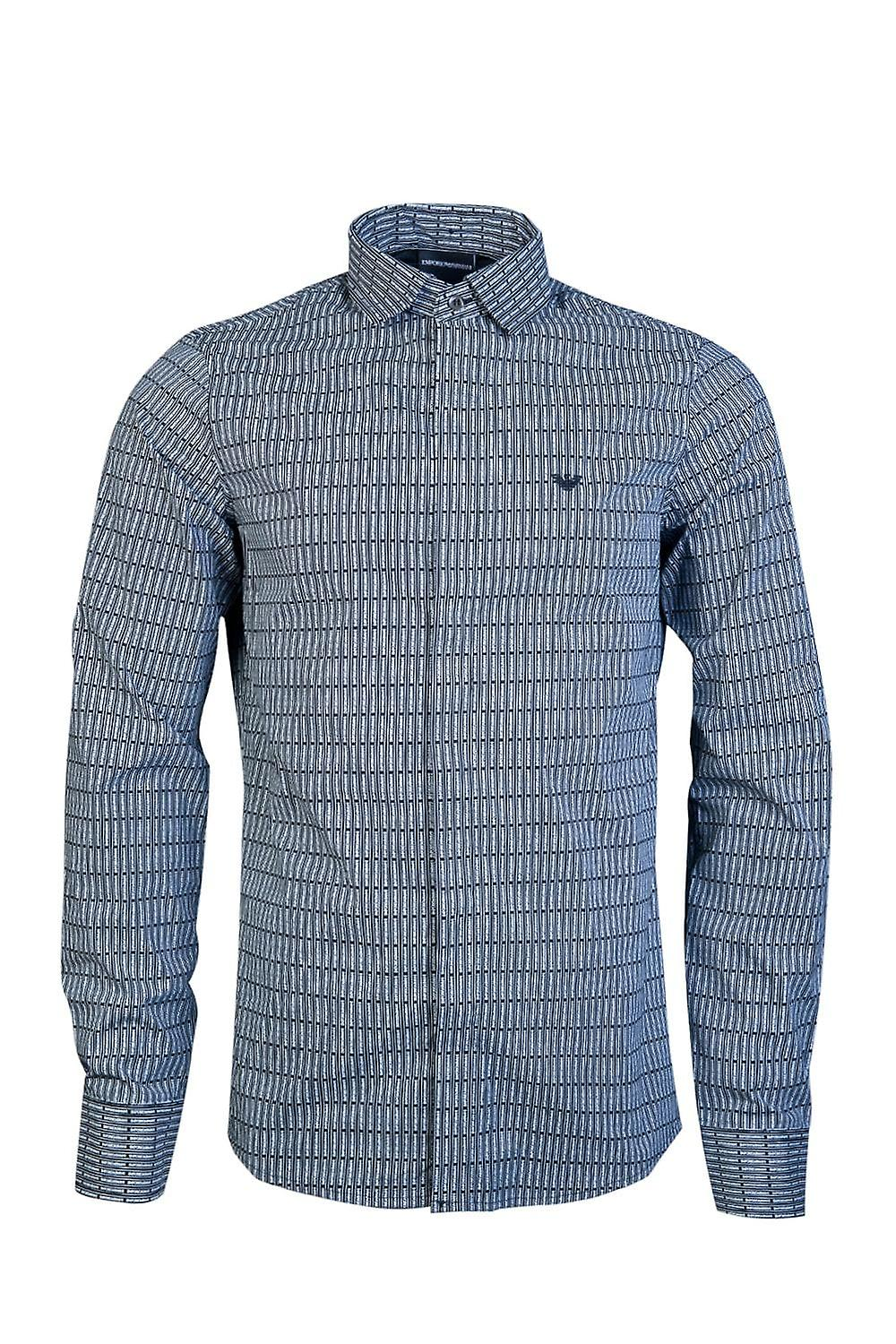 Emporio Armani Business-Regular Collar Shirt 3G1CL3 1NHUZ