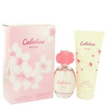 Cabotine Rose By Parfums Gres Gift Set -- 3.4 Oz Eau De Toilette Spray + 6.7 Oz Body Lotion (women) V728-514315
