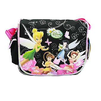 Messenger Bag - Disney - Tinkerbell - Black New School Book Bag a00181