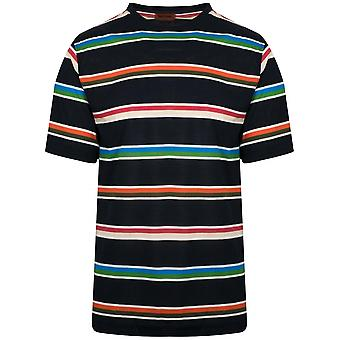 MISSONI Navy Striped T-Shirt