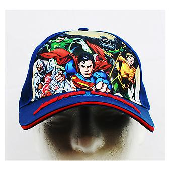 Baseball Cap - DC Comics - Justice League Blue (Youth/Kids) New JL777