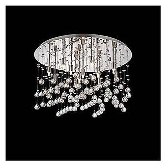 12 lumière grand semi Flush plafonnier pendentif chrome