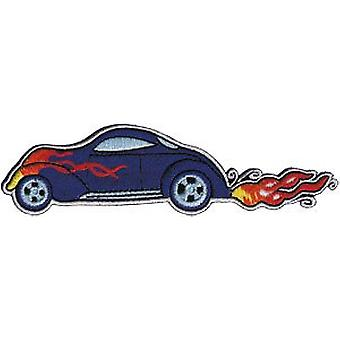 Patch - Automoblies - Purple Hot Rod with Flames Iron On Gifts New Licensed p-3769