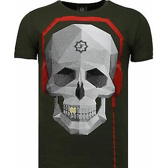 Skull Bring The Beat-rhinestone T-shirt-grön