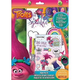 Fun Packs Stickers - Trolls - w/Tattoos Games Toys Set st6945