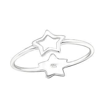 نجمة مزدوجة - 925 الجنيه الاسترليني خواتم عادي الفضة - W24613X