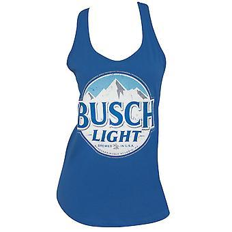 Busch Light Logo Women's Racerback Blue Tank Top