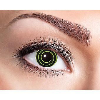 UV contactlenzen zwart licht spiraal