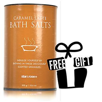 Cafe Treats Caramel Latte Scented Bath Salts 300g