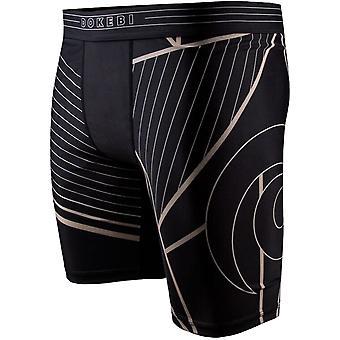 Dokebi tensão BJJ shorts de compressão-preto