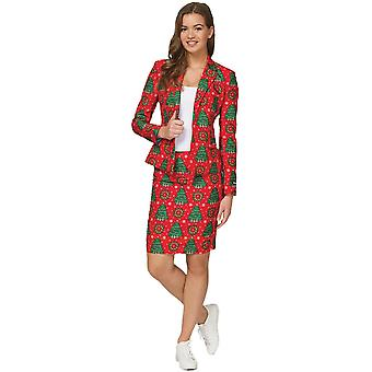 Women Christmas Suit Red