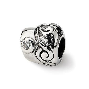 925 reflejos de plata esterlina SimStars CZ Zirconia cúbica zirconia diamante simulado encanto colgante colgante collar regalos f