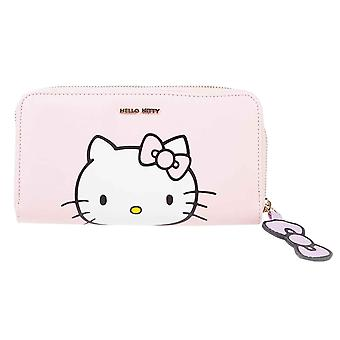 Sanrio Purse Hello Kitty Logo new Official Pink Zip Around