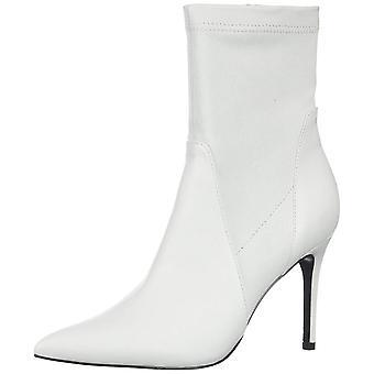 Charles David Women's Laurent Ankle Boot, White, 10 M US