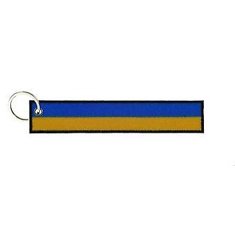 Porte Cle Cles Clef Brode Patch Ecusson Drapeau Brassard Ukraine Ukrainien