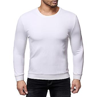 Allthemen män ' s solid Slim Fit rund krage Cotton Sweatshirt