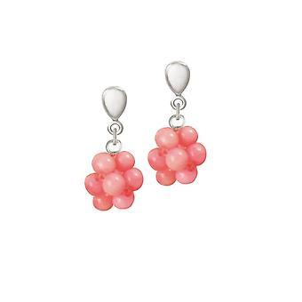 Eeuwige collectie koraalrif zilveren Toon Drop Clip op oorbellen