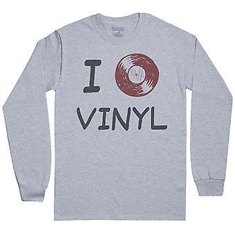 I Love Vinyl - Mens Long Sleeve T-Shirt