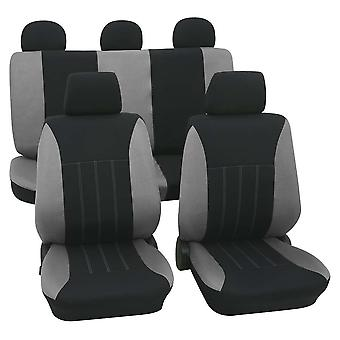 Grey & Black Car Seat Covers For Volkswagen Beetle 1999-2018