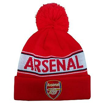 Arsenal FC Adults Unisex Text Cuff Knitted Beanie