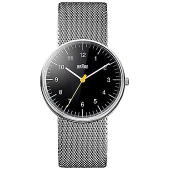 Braun Unisex Steel Mesh Bracelet BN0021BKSLMHG Watch