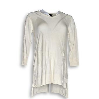 H por Halston Women's Sweater 3/4 Sleeve Pullover Ivory A287135