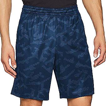 Under Armour UA Mens MK-1 Printed Gym Active Training Bottoms Shorts - Navy