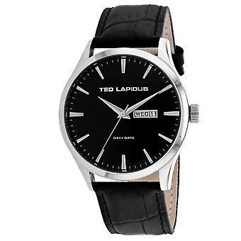 Ted Lapidus Men-apos;s Classic Black Dial Watch - 5124203