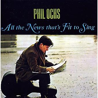 Phil Ochs - All the News That's Fit to Sing [CD] USA import