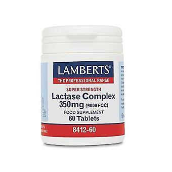 LAMBERTS super vahvuus laktaasin monimutkainen 350mg tabs 60 (8412-60)