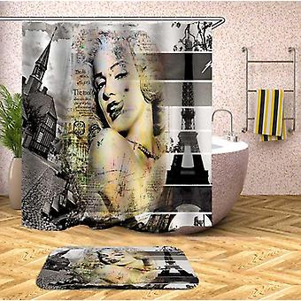 Marilyn Monroe In Paris Shower Curtain