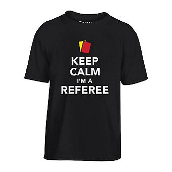 T-shirt bambino nero dec0186 keep calm im a referee