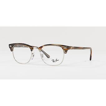 Ray-Ban Clubmaster RB5154 5749 Brown-Grey Stripped Glasses