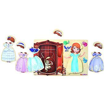 Eichhorn Disney Księżniczka Sofia Drewniana puzzle 13-częściowa zabawki