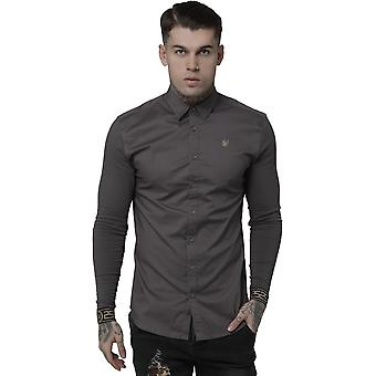 Sik Silk Cartel Jersey Long Sleeve Shirt Charcoal 23