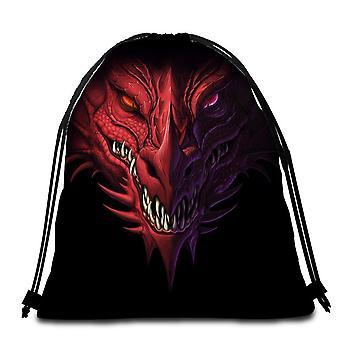 Scary Dragon Beach Towel