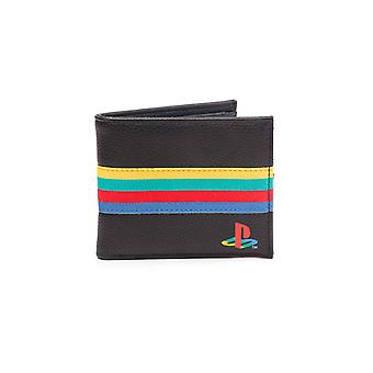 Playstation Wallet Console Webbing Logo new Official Gamer Black Bifold