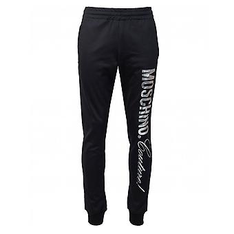 Moschino Couture zilveren logo slim fit joggers