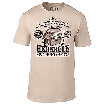 Mannen ' s Hershel ' s Zombie opslag t-shirt